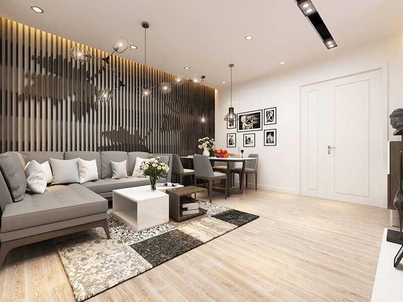phòng khách chung cư viha complex